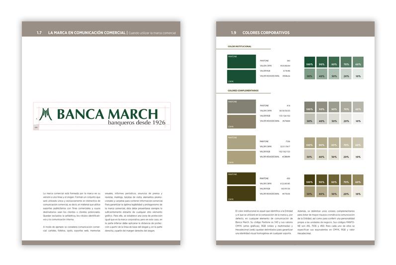 Manual de identidad corporativa banca march illa agencia for Oficinas banca march palma